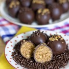Healthy Peanut Butter Banana Chocolate Truffles