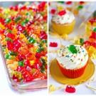 Boozy Gummy Bear Cupcakes