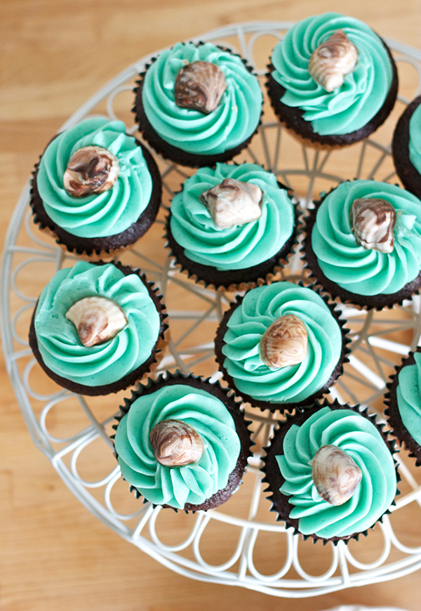 Chocolate Seashell Cupcakes 271