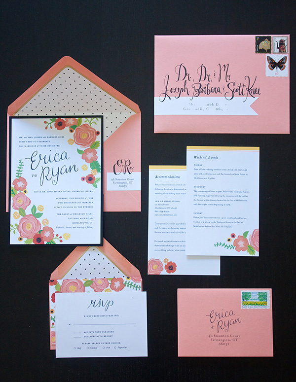 Erica S Sweet Tooth Wedding Sweets Invitations And Faux Calligraphy