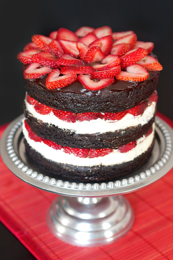 Ericas Sweet Tooth Strawberry Brownie Layer Cake