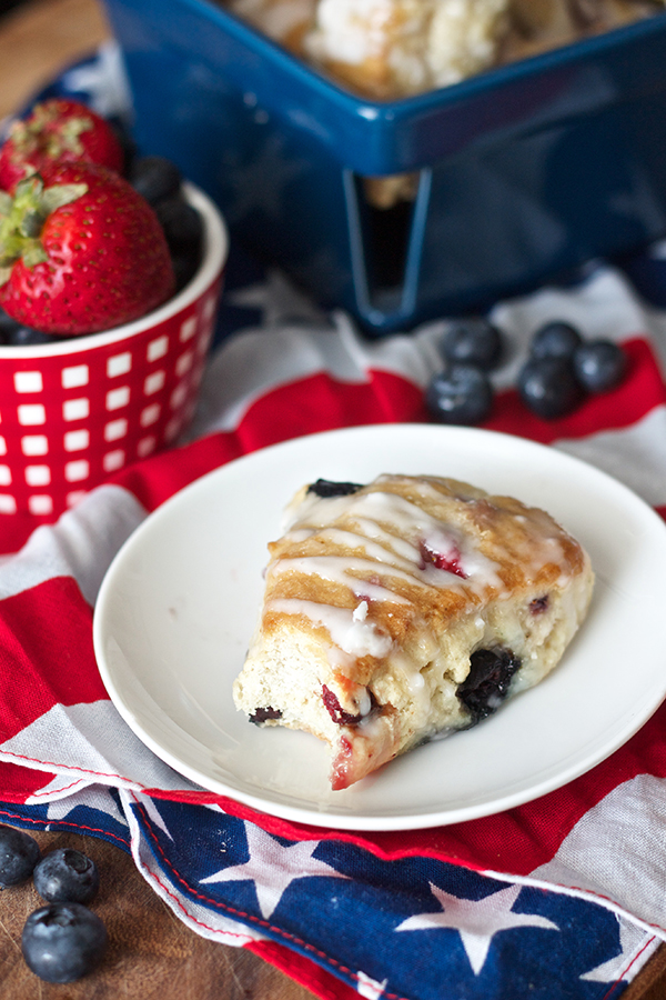 Erica's Sweet Tooth » Red, White, and Blue Berry Scones